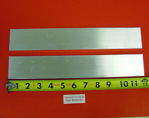 2 Pieces 1 2 X 2 Aluminum 6061 Flat Bar 12 Long T6511 Plate New Mill Stock
