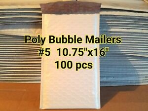 Lots Of 100 5 10 5 x16 Poly Self Sealed Bubble Mailers Padded Envelope Bags