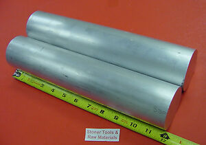 2 Pieces 2 1 2 Aluminum Round 6061 Rod 12 Long T6511 Solid 2 5 Lathe Bar Stock