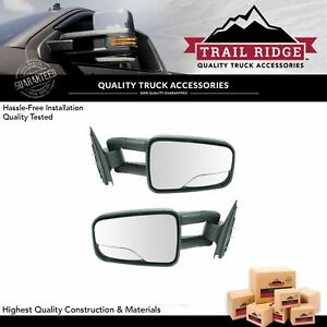 Trail Ridge Towing Mirror Manual Pair For 99 07 Chevy Gmc Silverado Sierra Truck