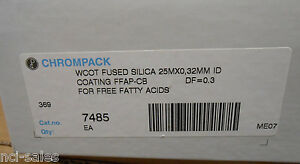 Chrompack Gas Chromatography Wcot Fused Silica Gc Column 7485