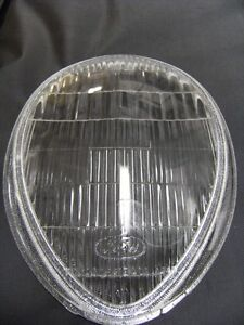 1939 Ford Deluxe Car Fluted Glass Headlight Lens Lenses With Logo 39