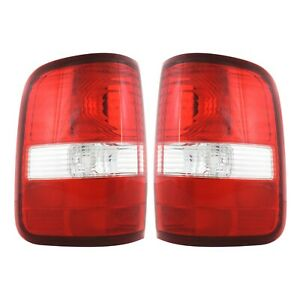 Set Of 2 Tail Light For 2004 2008 Ford F 150 Fx4 Clear Red Lens Capa