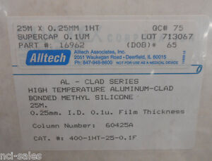 Alltech Gas Chromatography 60425a Gc Column 400 1ht 25 0 1f