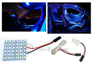 2x T10 Festoon Universal 36 Smd Hyper Blue Led Panel Interior Dome Map Light