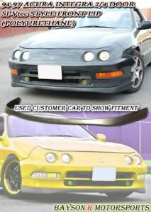 Si Vtec Style Front Lip Urethane Fits 94 97 Acura Integra 2 4dr