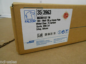 40 Bd Falcon 353963 par 384 well Assay Plate With Lid White Clear