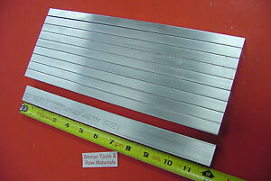 10 Pieces 1 2 X 1 Aluminum 6061 T6511 Flat Bar 12 Long Plate Mill Stock 50