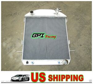 3core Model T Chev Bucket Ford Grill Shells 1924 1927 Hotrod Aluminum Radiator