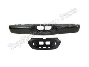 For Toyota 2000 2006 Tundra Standard Bed Rear Bumper Face Bar Black Center Pad