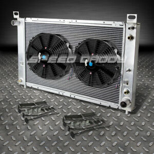 2 row Aluminum Racing Radiator 2 Fan 99 07 Gmc Yukon sierra tahoe escalade V8 At