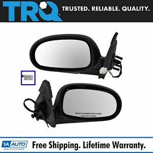 Power Black Unheated Mirrors Pair Set Left Lh Right Rh For 00 03 Nissan Maxima