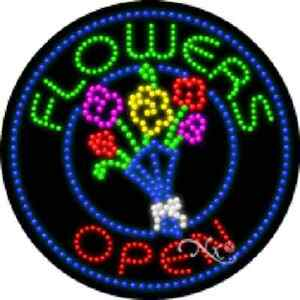 Flowers Open High Impact Eye catching Led Sign