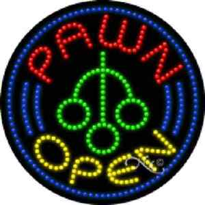 Pawn Open High Impact Eye catching Led Sign