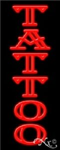 Tattoo Handcrafted Real Glasstube Neon Sign