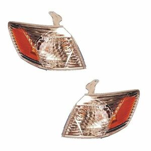 New Pair Of Corner Lights Left Right Fits 2000 2001 Toyota Camry