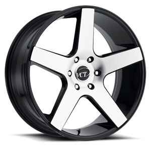 22 Inch Vct V83 Black Machine Wheels Rims Tires Fit Chevy 6 Lug Truck Or Suv