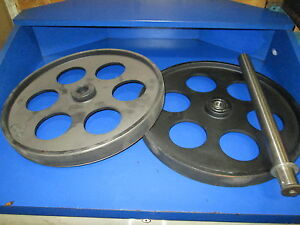 Bandsaw Wheels Bandwheels 18 Pair W Shaft Brand New Real Bandweels For Sawmill