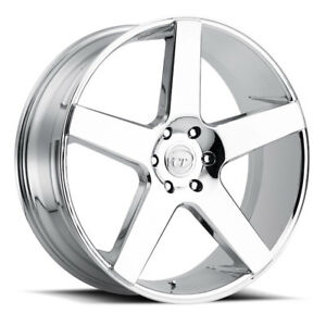 24 Inch Vct V83 Chrome Wheels Rims Tires Fit Chevy Ford Cadillac 6 Truck Or Suv