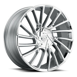 24 Inch Vct V79 Chrome Wheels Rims Tires Fit Cadi Chevy Ford 6 Lug Truck Or Suv