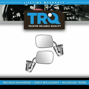 Trq Stainless Steel Manual Side View Mirrors Lh Rh Pair Set For Chevy Truck