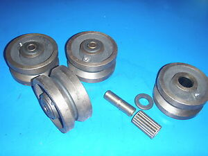 Bandsaw Casters V Groove Wheels 2 Wide Heavy Duty rail Equipment Carriage