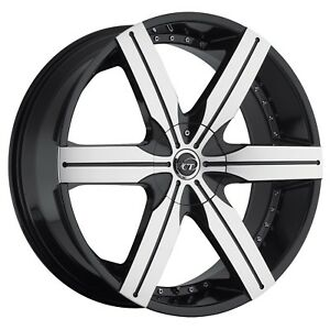 22 Vct Gotti Black Machine Wheels tires Fit Frod Expedition Navigator 6 X 135