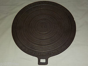 Vintage Kitchen 1889 Bangor Me Wood Bishop Co Cast Iron Tea Kettle Cover