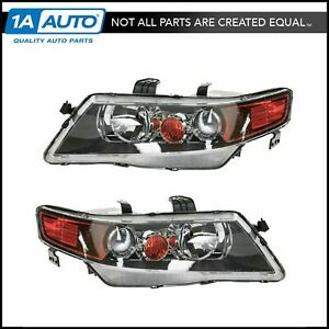 Hid Xenon Headlights Headlamps Pair Set For 04 05 Acura Tsx