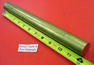 1 1 8 C360 Brass Solid Round Rod 12 Long 1 125 Od X 12 0 New Lathe Bar Stock