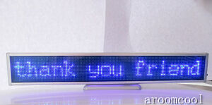 16 128 Led Message Scrolling Display Board Programmable Blue