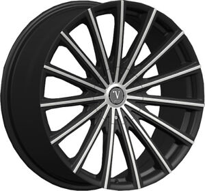 20 Inch Velocity Vw10 Black Mach Wheels Tires Fit 300c Charger Challenger