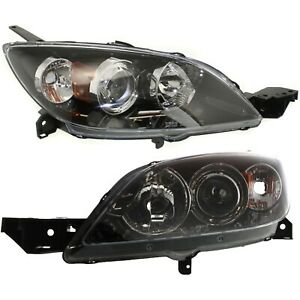 Headlight Set For 2004 2009 Mazda 3 Hatchback Left And Right 2pc