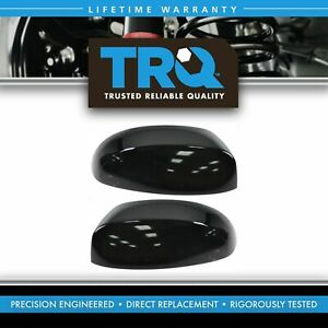 1a Smooth Black Side Mirror Cap Pair Set For Tahoe Silverado Sierra Pickup
