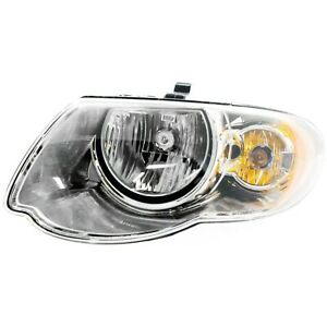 Headlight For 2005 2006 2007 Chrysler Town Country Left With Bulb