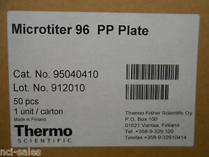 Thermoscientific 95040410 Microtiter 96 Well Pp Plate 50 cs