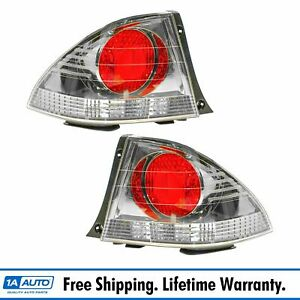 Taillights Taillamps Light Metallic Bezel Left Right Pair Set For 02 03 Is300
