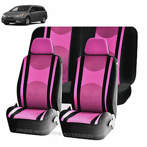 Pink Bk Honeycomb Airbag Ready Split Bench Seat Covers 6pc Set For Vans 1140