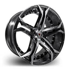 Marquee 3284 Smoked Polish Black 20 Inch Rims Tires Fit 5 X 120