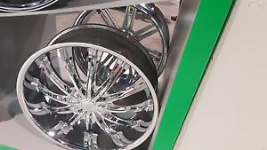 Borghini B15 Chrome 18 Inch Wheels Rims Tires Fit 5 X 114 3 Accord Mustang