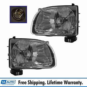 Headlights Headlamps Left Right Pair Set New For 01 04 Tacoma Pickup Truck