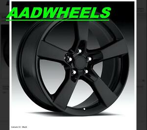 20x9 2010 2011 2012 Camaro Ss Black Wheels Rims Tires Bolt Pattern 5x120