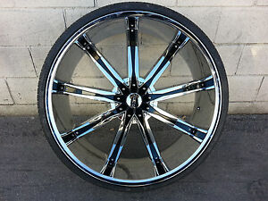 26 Inch Dcenti Dw29 Wheels Rims Tires Fit 6 X 139 7 Escalade Sierra Tahoe