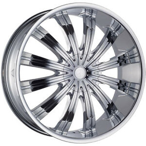 26 Inch Phino 38 Chrome Wheels Rims Tires Fit 5 X 115 5 X 120 13 Offset