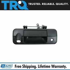Trq Tailgate Liftgate Handle Black Textured W Rearview Camera Hole For Tundra