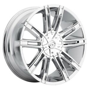 Vct V28 Chrome 18 Inch Wheel Rims Tires Fit 5 X 114 3 Great Deals
