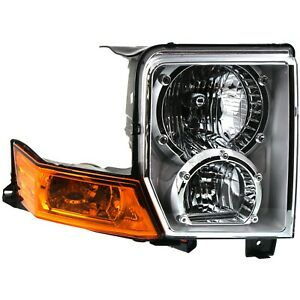 Headlight For 2006 2008 2009 2010 Jeep Commander Right With Bulb