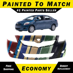 New Painted To Match Front Bumper Cover Fascia For 2007 2012 Toyota Yaris Sedan