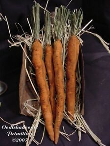 Primitive Carrots Spring Bowl Jar Filler Cupboard Tucks Easter Paper Pattern