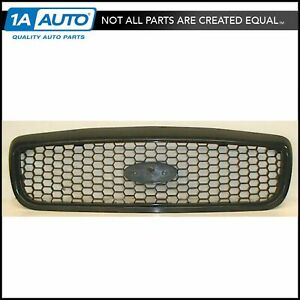 Grille Grill Black Textured Flat Honeycomb Front For 98 11 Ford Crown Victoria